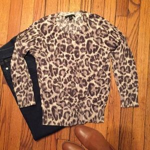 Cotton leopard sweater